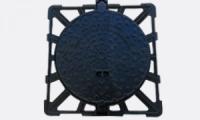 Cadre carré et tampon circulaire