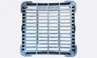 Cadre et grille carrée plate ou concave
